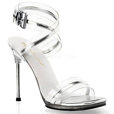 Ankle Strap Sandalette Chic-05 silber von Fabulicious