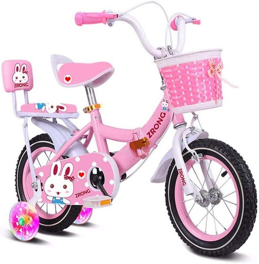 Rueda de Bicicleta de los niños los niños Bicicleta Plegable Bicicleta de niño del Cochecito Plegable 2-3-4-5-6-7 Años de Edad Flash con Asiento de atrás