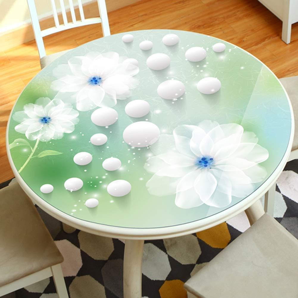 テーブルクロス 拭き取り可能な防水テーブルクロス、マルチサイズデスク保護カバー、PVCテーブルマット (サイズ さいず : 135cm diameter) 135cm diameter  B07RTJPQGR