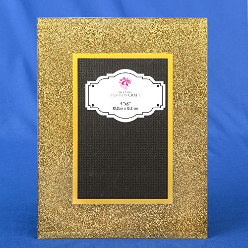 24 Gold Glitter 4 X 6 Frames Wedding Favors by Fashioncraft (Image #2)