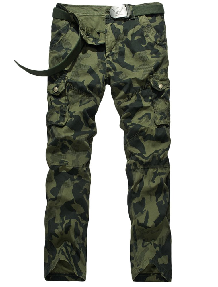 Vogstyle Men's Casual Cargo Pant Cotton Combat Pants Trousers style 3 army green 32