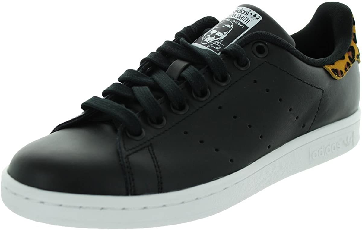 adidas Women's Stan Smith Black/White/Brown B26591 (Size: