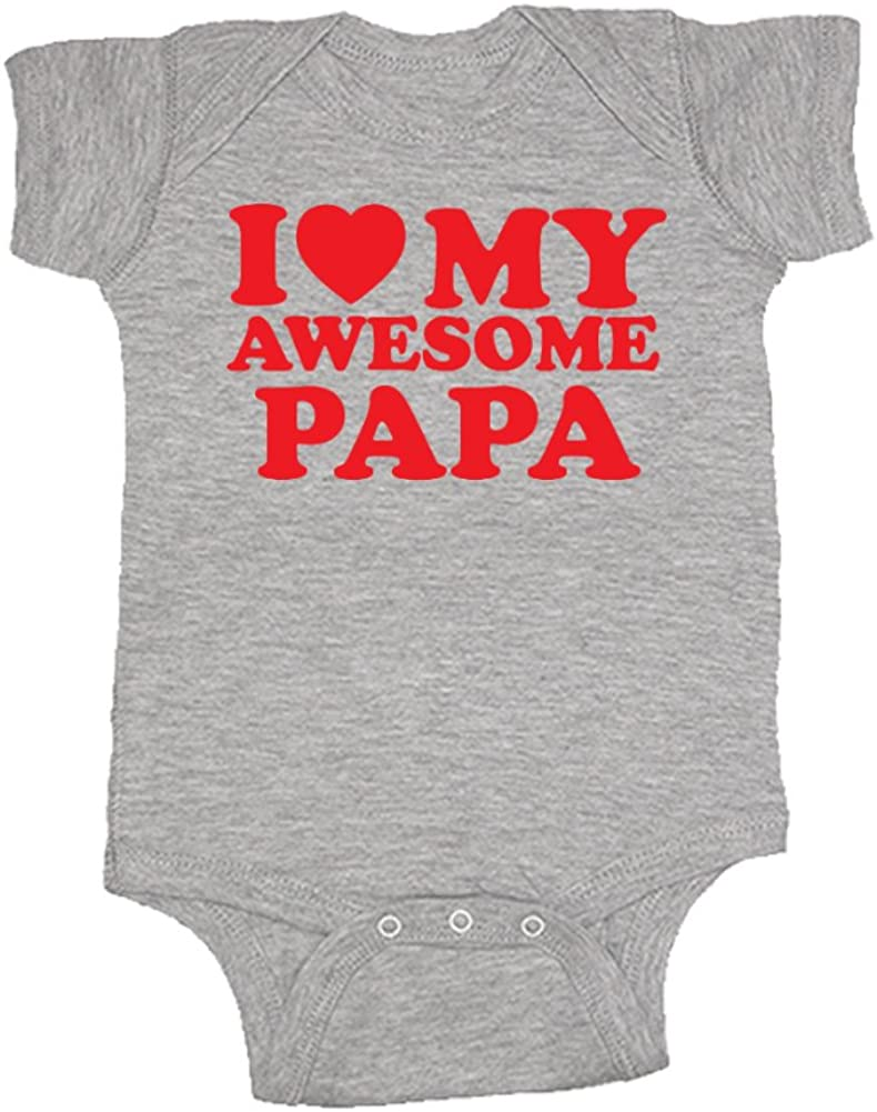 Red Heart Mashed Clothing Unisex-Baby Baby Bodysuit I Love Fun /& Trendy My Awesome Papa