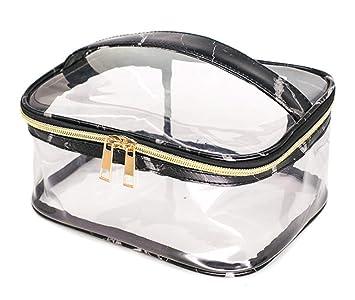 65afe9f126da Amazon.com : Mvchif Transparent PVC Cosmetic Bag Set of 3 Waterproof ...