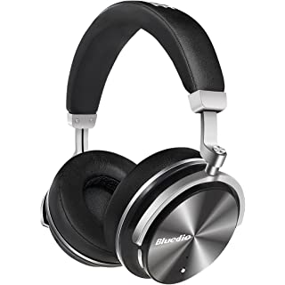 Bluedio T4 Turbine Active Noise Cancelling Over ear Swiveling Wireless Bluetooth Headphones with Mic  Black