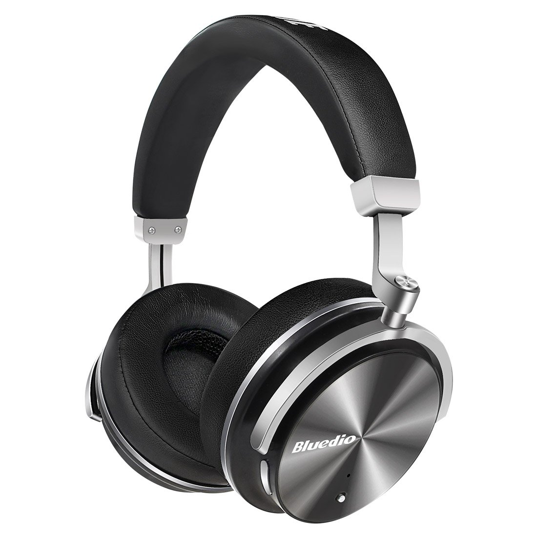 Bluedio T4 (Turbine) Active Noise Cancelling Over Ear Swiveling Wireless Bluetooth Headphones With Mic Father's Day Gift (Black) by Bluedio