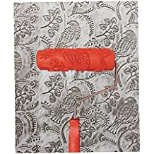 """Generic 7"""" Embossed Painting Roller with Plastic Handle for Wall Decor - EG343T_Bird"""