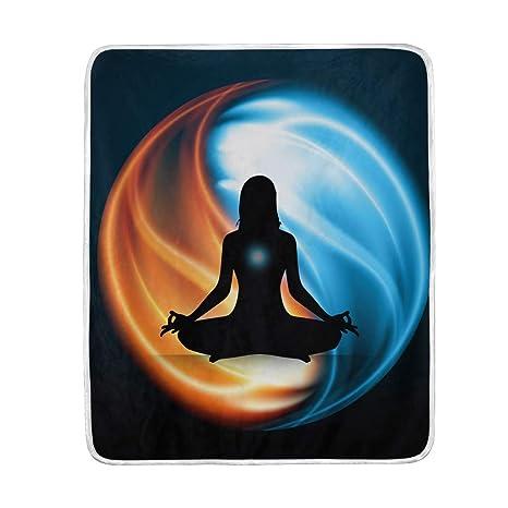 CPYang Yin Yang Manta de Yoga Suave de Microfibra Regalo de ...