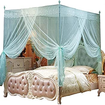 Nattey 4 corners princess bed curtain canopy - Bed canopies for adults ...