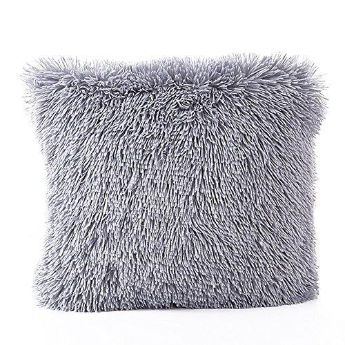 Faux Fur Pillow Cover, FabricMCC Decorative Super Soft Plush