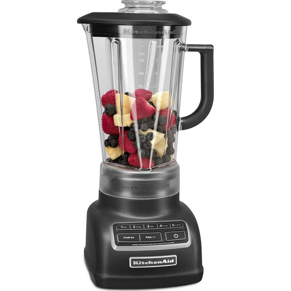 KitchenAid KSB1575BM 5-Speed Diamond Blender Black Matte