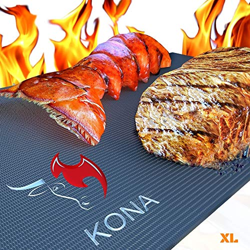 Kona XL Best Grill Mat - BBQ Grill Mat Covers The Entire Grill - Premium Non-Stick 25'x17'