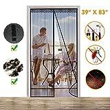 #8: Magnetic Screen Door, Instant Mesh Curtain Screen Door with Full Frame Velcro Anti Bedbug Fly Anti-Mosquito Door Net 39