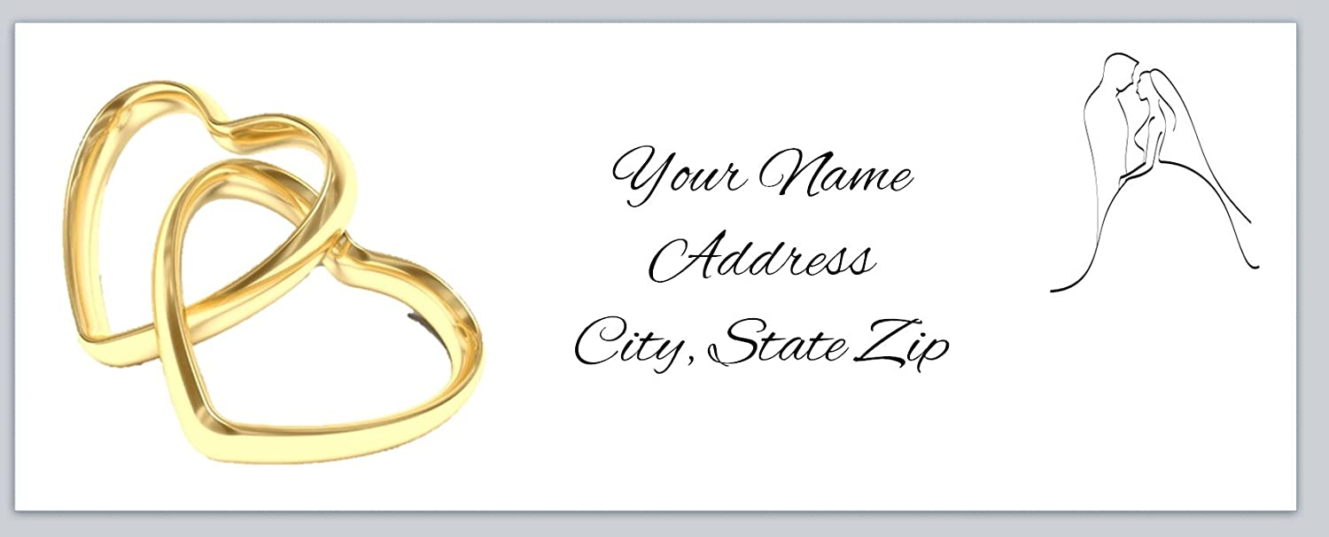 120 personalized return address labels wedding ac 931