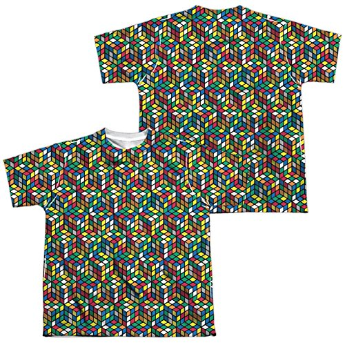 Price comparison product image Youth: Rubik'S Cube- Cube Stack (Front / Back) Kids T-Shirt Size YL