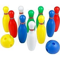 70b457c4b3486 ... Bowlingkugel Kugel Interaktive Kegelspiel Spielzeug Bowling-Set für  Kinder 3 Jahre und Bis (Groß