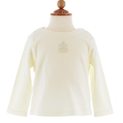 892686d932c3f CELEC(セレク) ベビー Tシャツ 80cm 長袖 日本製 オフホワイト ブライトスムース