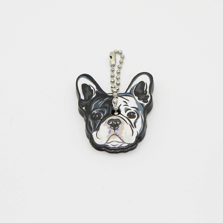 Amazon.com: Llavero con diseño de perro bulldog francés para ...