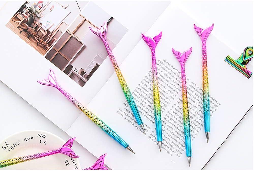 1PC Creative Gradient Ballpoint Pen Cute Mermaid Pen School Office Stationery