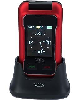 VOCA desbloqueado 3G Teléfono móvil tipo concha, botones grandes, texto predictivo, botón SOS