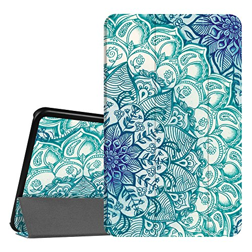 Fintie Slim Shell Case for Samsung Galaxy Tab A 10.1, Super Slim Lightweight Standing Cover with Auto Sleep/Wake Feature for Tab A 10.1 Inch (NO S Pen Version SM-T580/T585/T587), Emerald Illusions