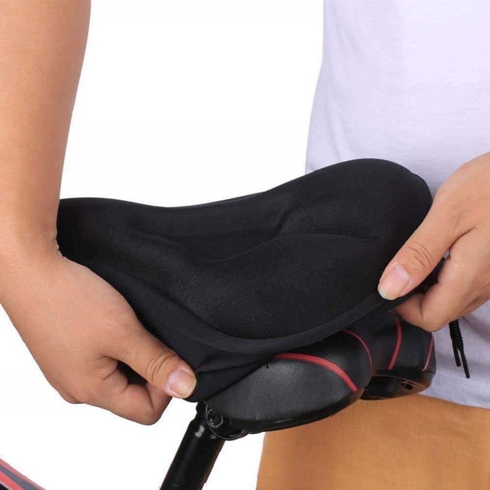 LKXZYX Sill/ín Cubre Bicicleta Suave Funda Anti-Polvo y Impermeable Funda Acolchada de Gel para Asiento de Bicicleta Cubierta de Asiento para Bicicleta
