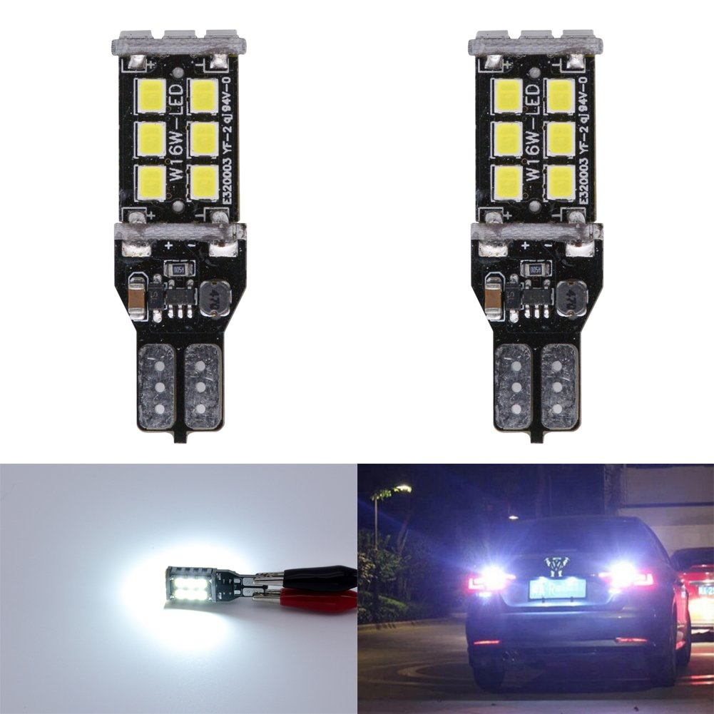 KaTur 4pcs High Power 800 Lumens Super Bright T15 W16W 921 915 LED Canbus Error Free 15SMD 2835 Backup Reverse Tail Brake Lights Parking LED Blubs DC 12V Amber