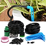 KINGSO Micro Drip Irrigation System with 2 Tubing,Water Micro Flow Dropper Irrigation Kit for Flower Beds, Vegetable Gardens