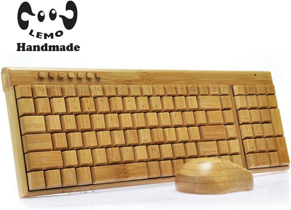 LEMO 2,4 GHz estándar 109 Claves de bambú hecha a mano PC ...