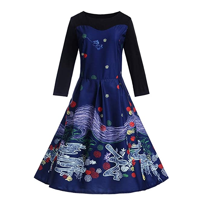 Vestidos Invierno Mujer,☆Yusealia Vestidos Mujer Casual,Vestidos Manga Larga Fiesta Vestidos Vendimia