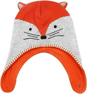 Purple Cap with Pointed Fox Ears Cute Beanie Cap Be a Fox!