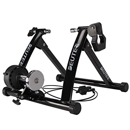 c8de61d91d Deuter Bike Trainer Stationary Magnetic Exercise Bicycle Stand for Indoor  Riding Portable with Noise Reduction Technology