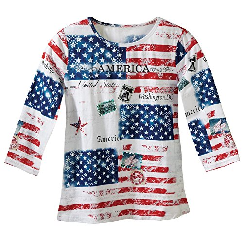 Womens American Patriotic Sequin Plus Size
