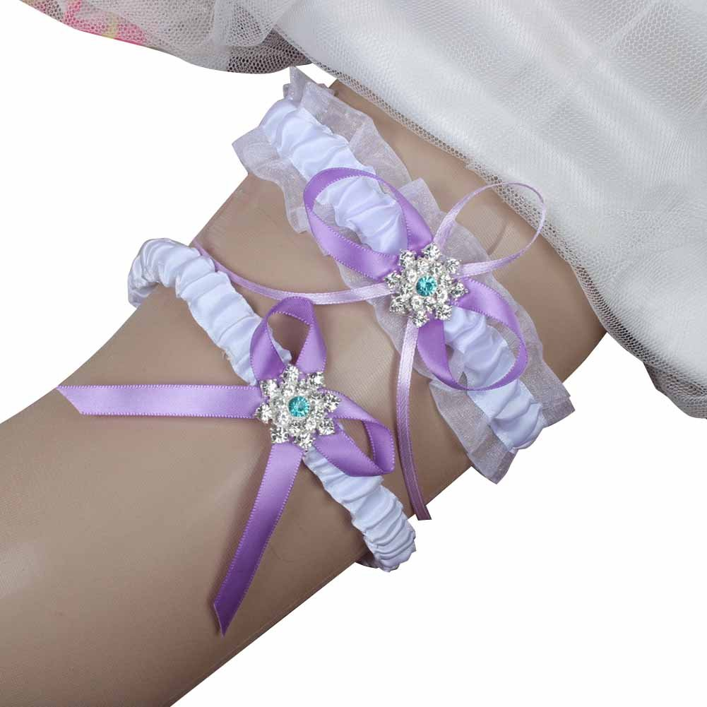 Amazon.com: IUMN 1 Pair White Ribbon Prom Wedding Bridal Garter Belt Set  With Bowknot (15-23 Inch): Clothing