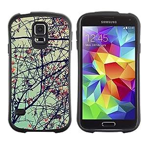 "Hypernova Slim Fit Dual Barniz Protector Caso Case Funda Para Samsung Galaxy S5 [Planta Naturaleza Forrest Flor 69""]"
