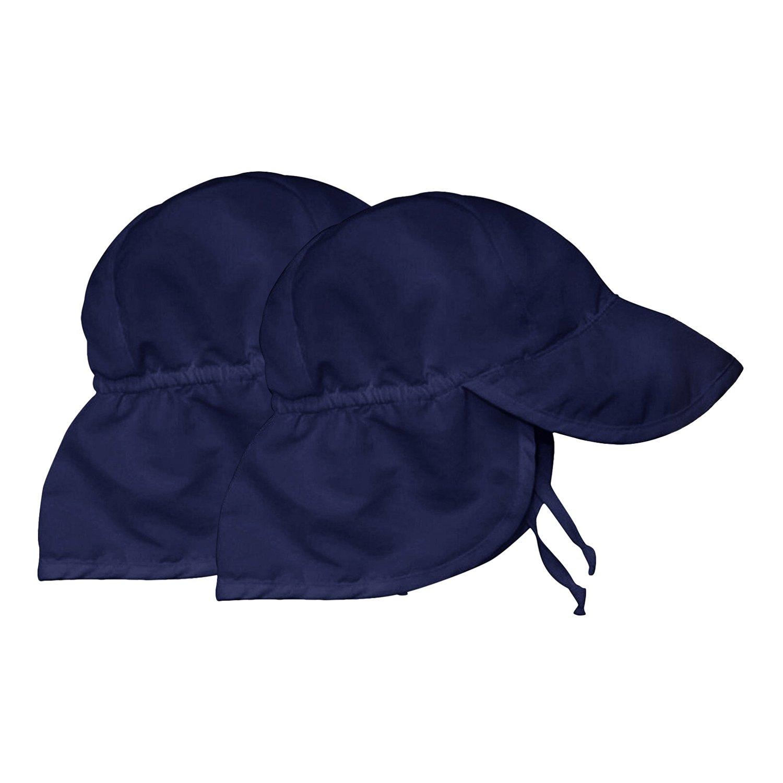 Kids Sun Hat Boys/Girls Toddlers Sun Protection Hat UPF50+ Long Neck Flap Swim Hat (2 Navy Blue) by Sunlightfree (Image #1)
