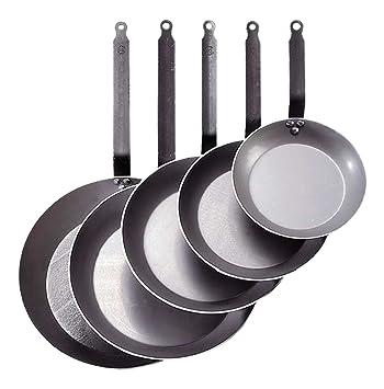 De Buyer Plus Steel - Sartén de acero de carbono, especial para altas temperaturas, 20 centímetros: Amazon.es: Hogar