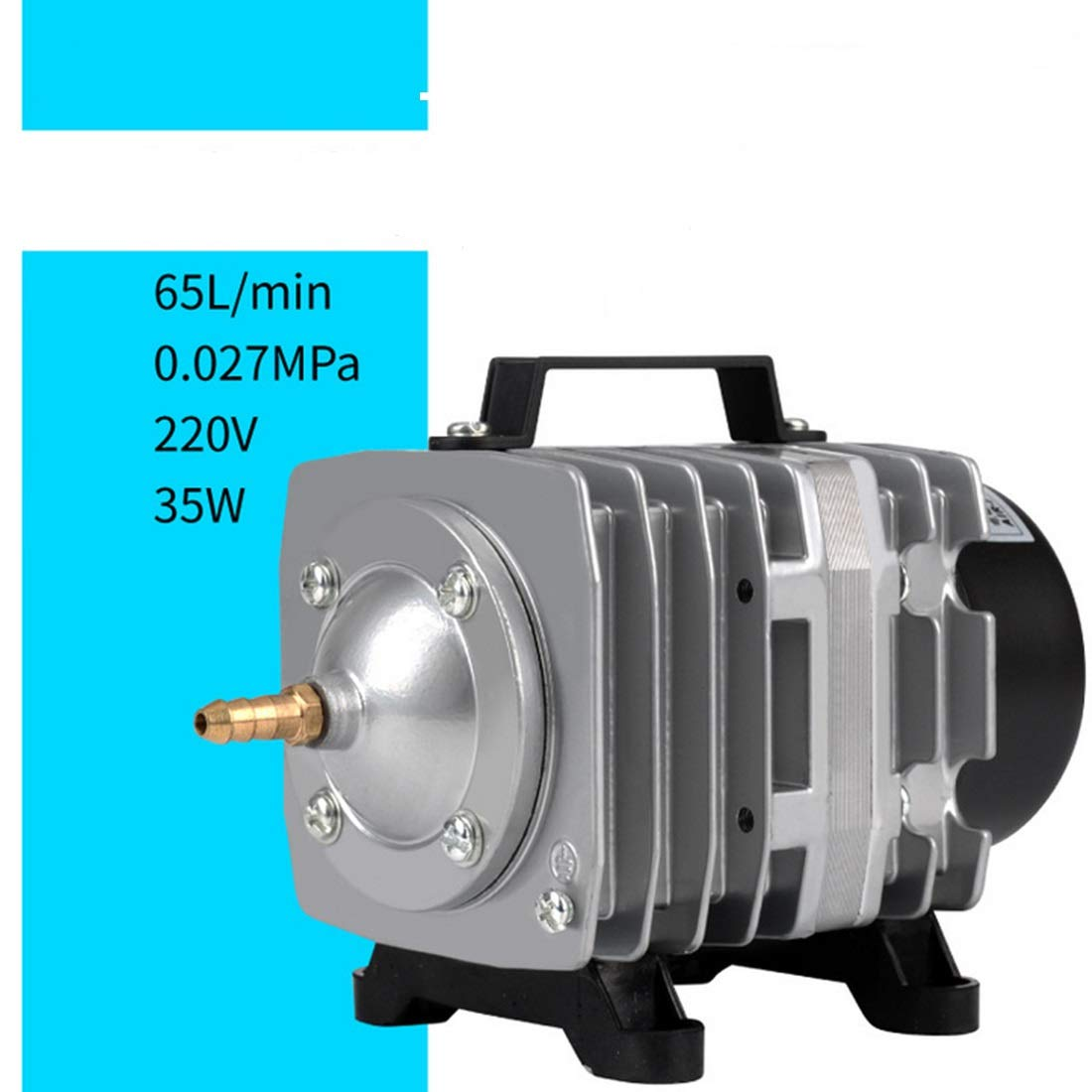 FELICIPP Lega di Alluminio Heavy Duty 35W Crescente Pompa di Ossigeno per Acquario, Stagno, acquaponica, Coltura idroponica