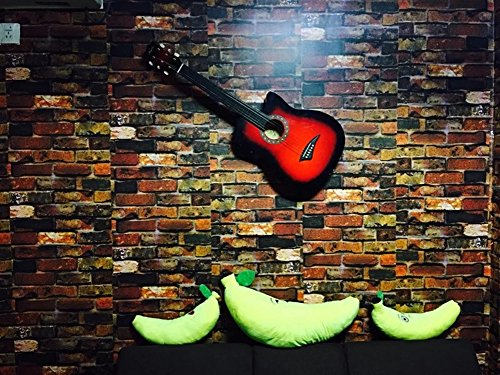 Yancorp Waterproof Self-Adhesive Wallpaper Rust Red Brown Brick Pattern Peel-Stick Wallpaper Wall Stickers Door Stickers Counter Top Stickers (Rust Red Brick) by Yancorp (Image #4)