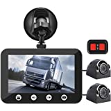 """VSYSTO A2F Motorcycle Camera Dual Lens 1080P, Motorcycle Dash Cam Front and Rear with 3"""" LCD Screen Recording Camera Support Waterproof & WiFi & Wireless Controller and Night Vision"""