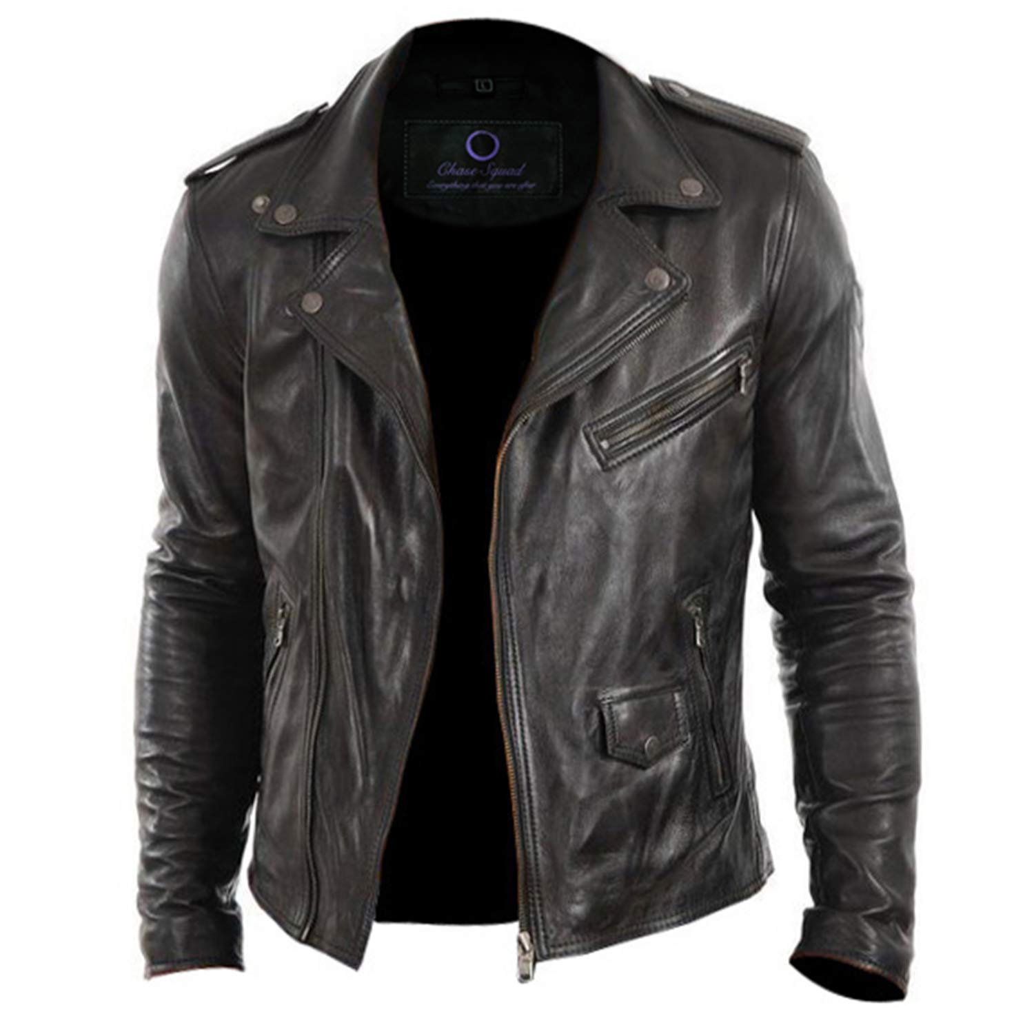 24e25f36c Chase Squad Tough Look Designer Real Leather Jackets Men - Men's ...