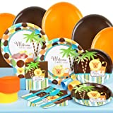 King of the Jungle Baby Shower Standard Party Pack for 16 Party Supplies