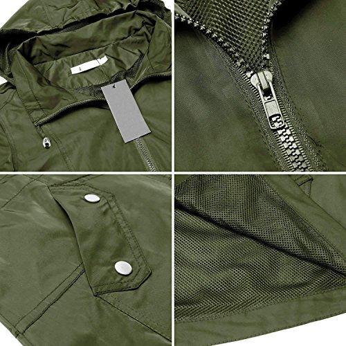 Verde Caeasar Donna Impermeabile Giacca Militare zZqtO