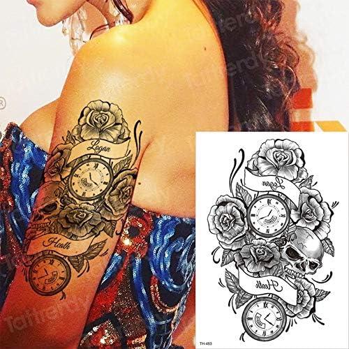 tzxdbh Tatuaje Temporal Mangas Rosa Cruz Pegatina Tatoo Tatuajes ...