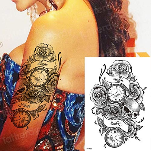tzxdbh Tatuaje Temporal Mangas Rosa Etiqueta Cruzada Tatoo ...