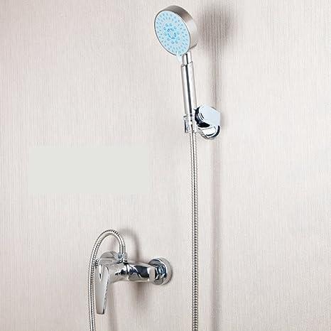 Toda la ducha de cobre/ boquilla de mano/Grifo de caliente y frío/
