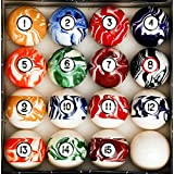 Iszy Billiards Pool Table Billiard Ball Set Marble - Swirl Style Several Styles to Choose from