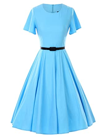 Amazon.com: GownTown 1950s Vintage Dresses Butterfly Sleeve Swing ...