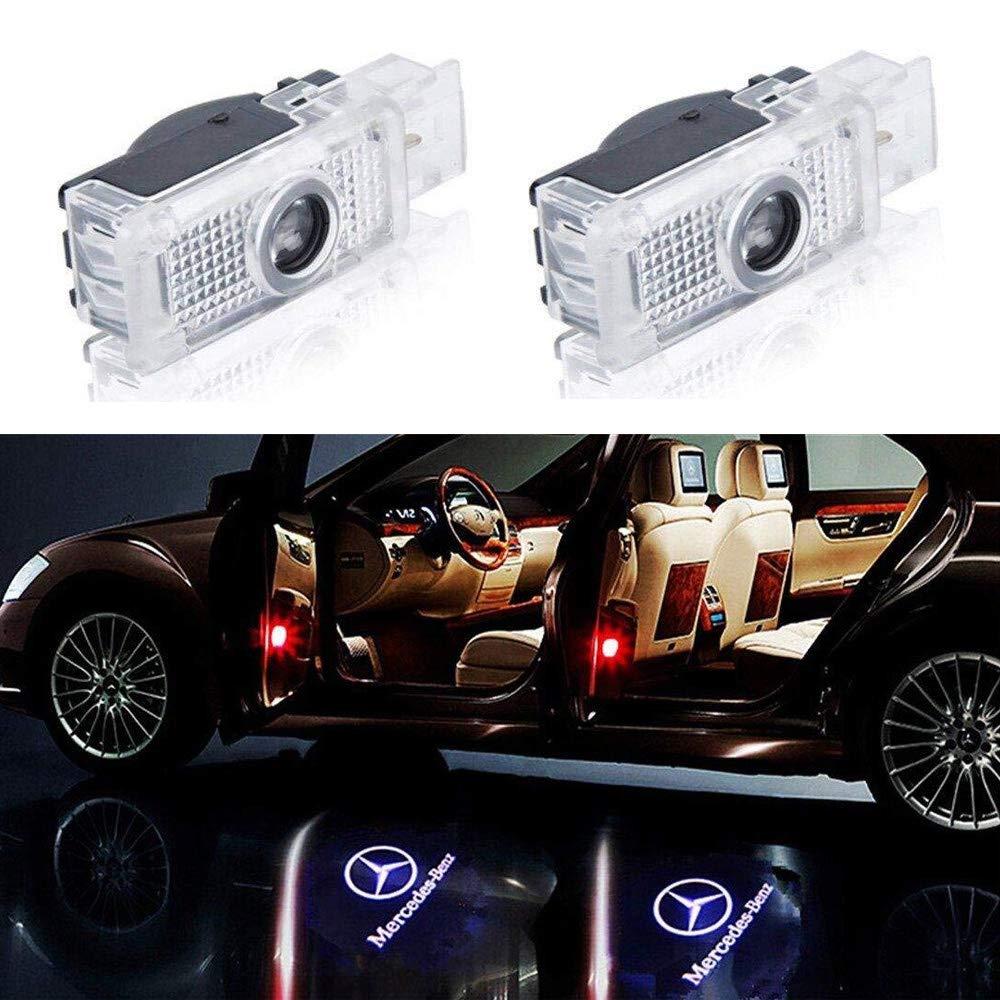 Soondar Universal Wireless Car Door Led Projector Light, Wireless Led Car Door Lights with Magnet Sensor Auto On/Off, Operated by AAA Batteries - Horse