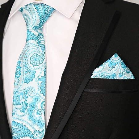 QEHWS Corbata Tie Pocket Square Set Corbata Clásica Corbata, 36 ...